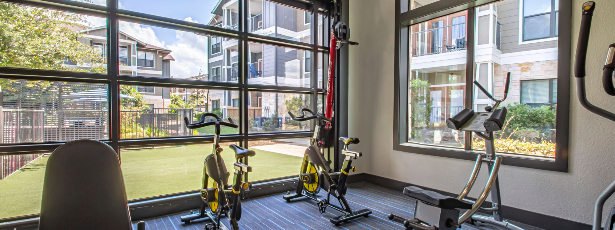 Fitness and Cardio with Operational Garage Door